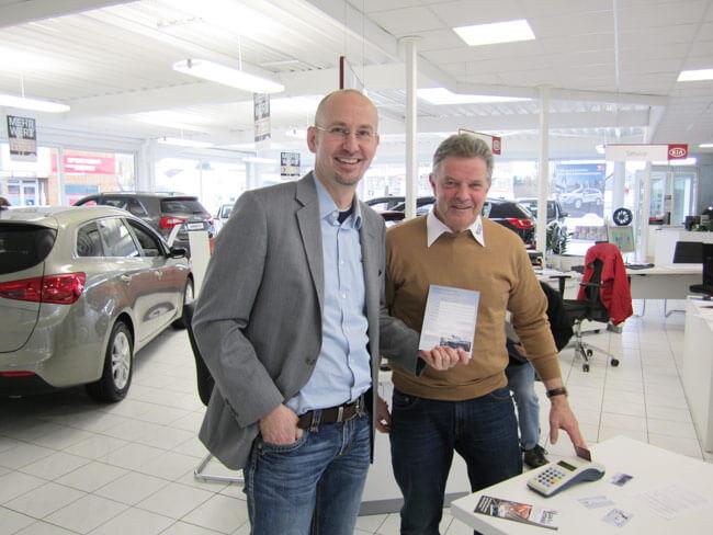 Christian Kranz bei einem KIA-Kunden