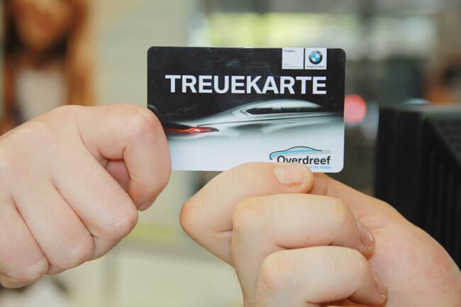 Die Treuekarte bei BMW Overdreef, Duisburg