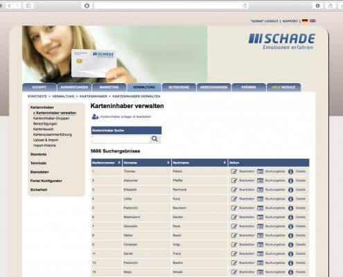 Verwaltung Kundenkartensystem