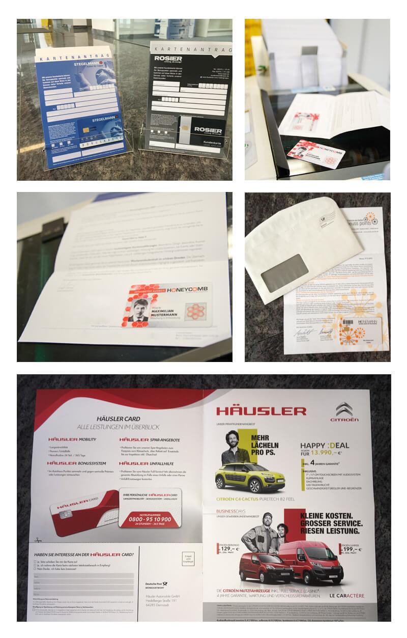Lettershop Kundenkarten