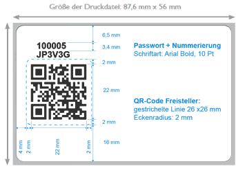 Druckvorlage für QR-Code Kundenkarten