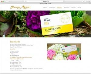 Die Kundenkarte bei Blumen-Meister