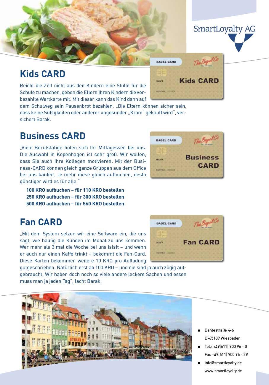 Wertkarten-Praxisbericht - Fastfood-Kette The Bagle Company Seite 2