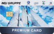 Die Kundenkarte von VW-Autohaus Neu