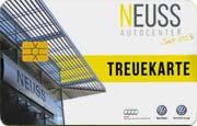 Die Kundenkarte von VW-Autohaus Neuss