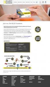 Die Kundenkarte auf der Website von VW-Autohaus Neuss