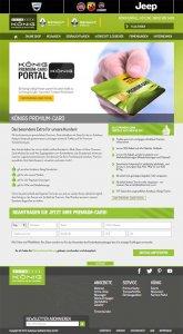 Die Kundenkarte auf der Website der Autohaus-Gruppe Gotthard König