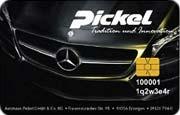 Die Kundenkarte Pickel der Autohaus-Gruppe Scholz
