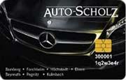 Die Kundenkarte der Autohaus-Gruppe Scholz