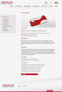 Die Kundenkarte auf der Website von Autohaus Häusler