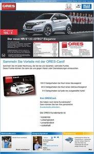 Die Kundenkarte auf der Website von Autohaus Ores