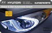 Die Kundenkarte im Autohaus Hyundai Weber & Diel