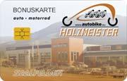 Die Kundenkarte im Autohaus Holzmeister
