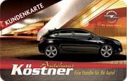 Die Kundenkarte im Opel Autohaus Köstner