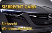 Die Kundenkarte im Opel Autohaus Siebrecht
