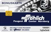 Die Kundenkarte im Peugeot Autohaus Fröhlich