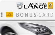 Die Kundenkarte im Renault-Autohaus Lange