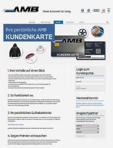 Die Kundenkarte auf der Website von SEAT Autohaus AMB