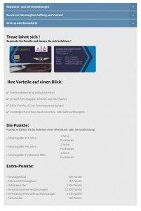 Die Kundenkarte auf der Website von Autohaus Suzuki Gross & Geis