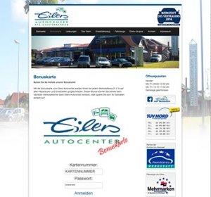 Die Kundenkarte auf der Website der Autowerkstatt Eilers