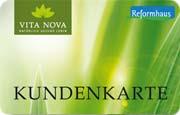 Die Kundenkarte/Bonuskarte von Vita Nova