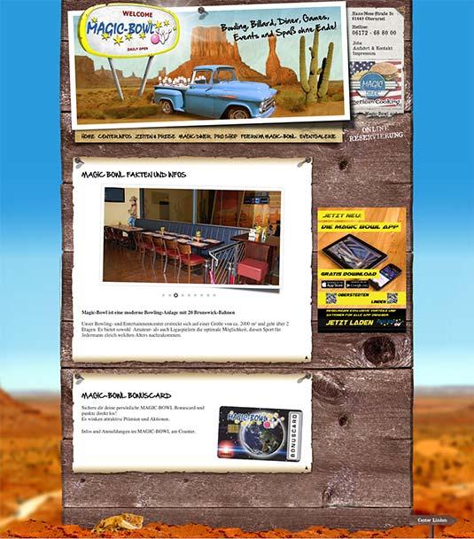 Die Kundenkarte auf der Website von Magic-Bowl