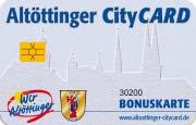 Die CityCard/Kundenkarte in Altötting