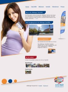 Die CityCard/Kundenkarten-Website von Altötting