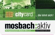 Die CityCard/Rabattkarte in Mosbach
