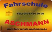 Die Kundenkarte in der Fahrschule Aschmann