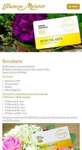 Die Kundenkarte auf der Website von Blumen Meister