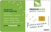 Die Bonuskarte im Restaurant Froschwirt