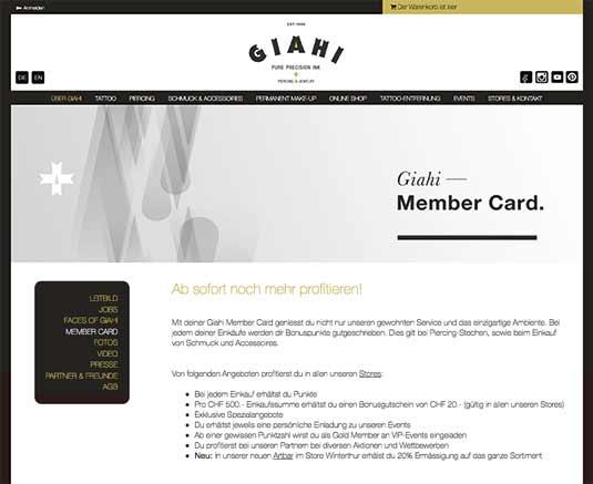 Die Website von GIHAI in Zürich