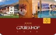 Die Kundenkarte im Hotel Gassenhof