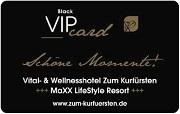 Die Kundenkarte/Bonuskarte im Hotel zum Kurfürsten