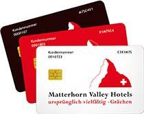 Die Kundenkarte in der Hotelgruppe MatterhornValley