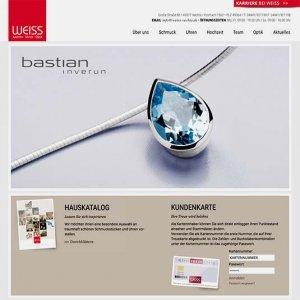 Die Kundenkarte im Juwelier Weiss aud der Webseite