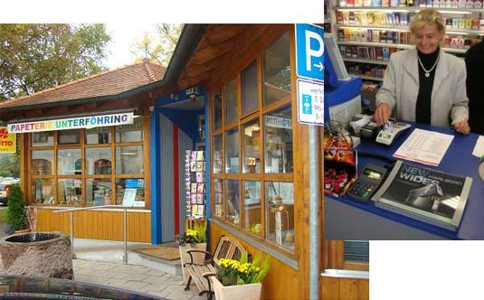 Die Kundenkarte im Laden der Papeterie Unterföhring