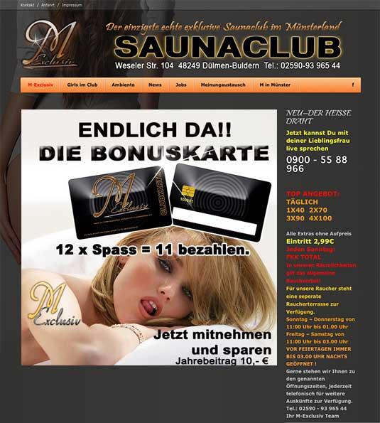 Die Kundenkarte im Sexclub M-Exclusiv