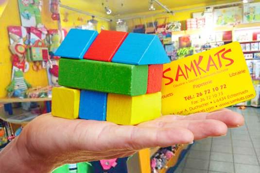 Die Kundenkarte im Spielwaren-GeschäftSamkats