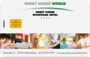 Die Kundenkarte im Sporthotel Gerry Weber
