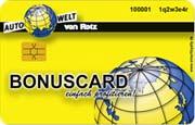 Die Kundenkarte an der Tankstelle von Rotz
