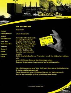Die Kundenkarte/Bonuskarte auf der Website von Taxi Gerdes