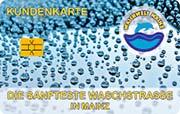 Die Kundenkarte/Bonuskarte der Waschstraße Waschwelt Mainz