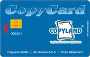 Die Wertkarte im Kopiergeschäft Copyland Hildesheim