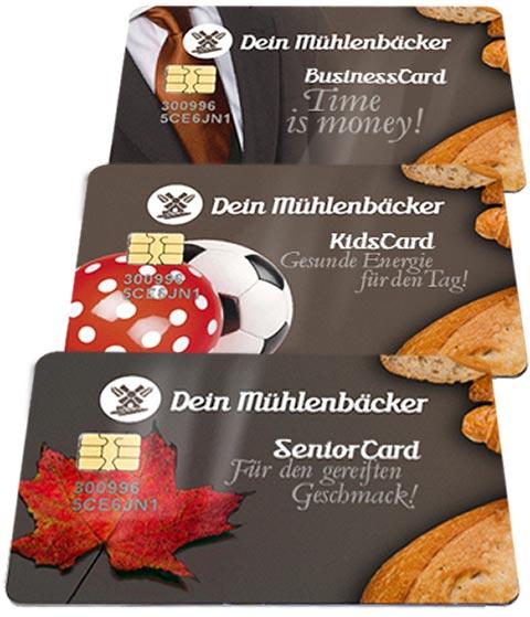 Wertkarten als Senior-, Business- oder KidsCard