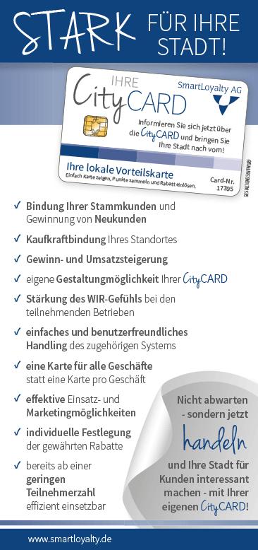 CityCARD-Infoflyer – Werden Sie aktiv!