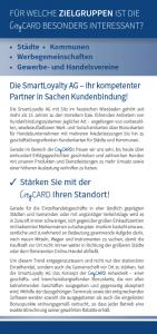 CityCARD-Infoflyer – Zielgruppen