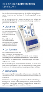 CityCARD Infoflyer – Die Komponenten