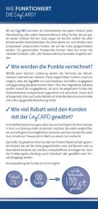 CityCARD Infoflyer – Punkte und Rabatt